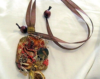 Gourd Collage Necklace