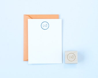 Personalized Ring Rubber Stamp Engagement and Wedding Invitations