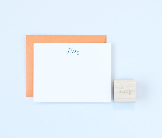 Script Name Rubber Stamp Customizable