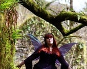 Faerie Light Hibiscus Dress ~ Faery ~ Pre- Raphaelite ~ Druid ~ Fae ~ Medieval ~ Sizes 6 to 30 ~ Last Chance to Buy