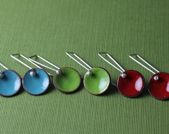 Colorful Enameled Earrings