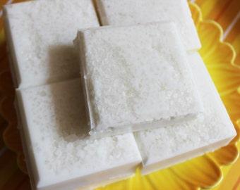 Salt Scrub Soap Bar Cocont Milk - Soap Scrub, Exfoliating Soap, Beach Soap, Tropical Soap, Hostess Gift, Summer Soap, Teen Gift, Unisex Soap
