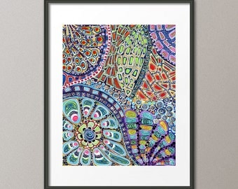 Gallery Canvas and Fine Art Prints Colorful Prism Mandalas Circles Abstract Modern Contemporary Interior Design Home Decor Gifts Elena