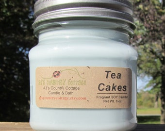 TEA CAKES SOY Candle - Vanilla Candle Bakery Sweet