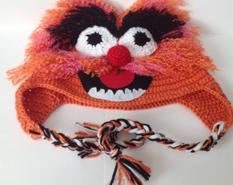 ANIMAL from the Muppets Hat/ Beanie - Any Size Available