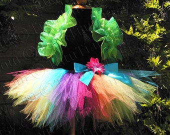 Girls Ruffle Shrug, Organza Shrug Birthday Tutu Outfit Accessory, Great for Flower Girls in Weddings, and as a Photo Prop for Photographers
