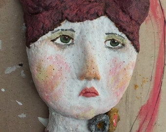 Holiday Sale** Shandie. Original Paper Clay Art Mask