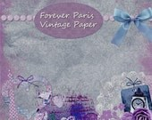 Buy 1 Get 1 Free Forever Paris  - Vintage Paper - French Chic - Cluster Collage Ephemera No.3 - Instant Download