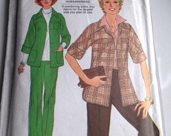 Vintage Women's Suit, Simplicity Pattern, 1970's Pattern, Plus Size Pattern, Women 40, 42, 44, 46, Etsy, Etsy Vintage, Vintage Pattern