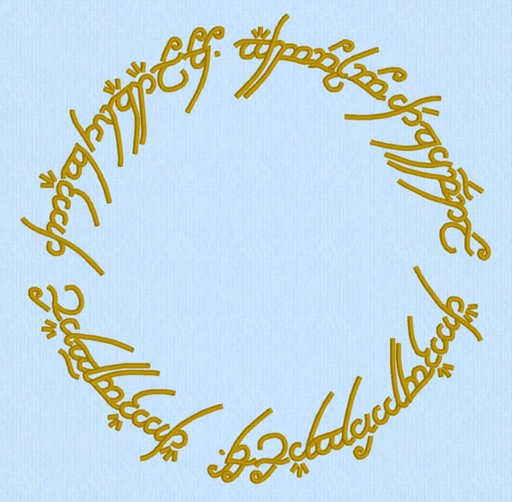 Lord Of The Rings Lotr One Ring Machine Embroidery Design