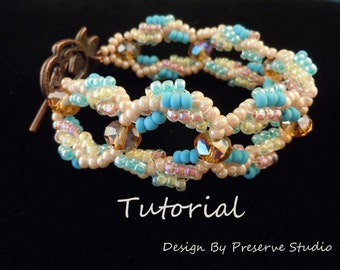 Bracelet Tutorial, Tutorial, Beading Tutorial, Spiral Loop Beaded Bracelet, Bracelet, Glass Bead Bracelet, DIY Bracelet