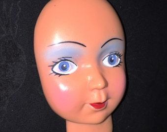 Vintage Flat Doll Face