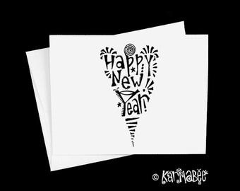Happy New Year Card Blank Inside