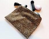 Kali Leopard Boho Makeup Bag Tassel Pouch