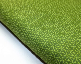 Michael Miller Hoodies Collection Green Geometric Fabric For Quilting and Sewing Sold By The Meter