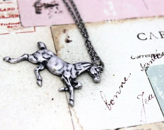 horse necklace. silver ox jewelry