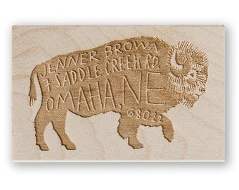 Bison Custom Stamp