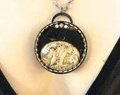 Pendant Necklace - Mermaids, Mermaid jewelry, Victorian Jewelry, Gothic Jewelry, Steampunk, Steampunk Jewelry, Steam Punk, OOAK