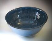 Denim Blue Bowl, Ceramic Bowl, Soup Bowl, Cereal Bowl - Handmade Pottery