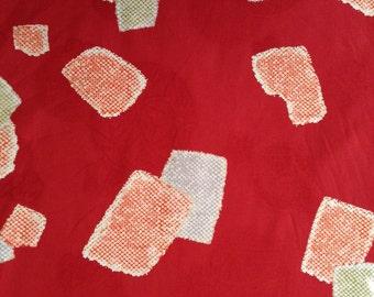 Kobayashi Komachi red jacquard Temari Japanese cotton fabric