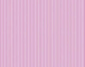 Splendor Stripe Pink White  C3916 - by the YARD - by Lila Tueller Designs for Riley Blake