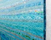 Custom Order for AN - Final Payment Fiber Art Quilt Ocean Currents Decor Ocean Theme Made to Order Decor Sea Theme Home Decor Quilt