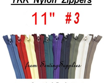 "27 ZIPPERS - 11"" - YKK Nylon Zippers - 11 inch -Special Promotion, Assorted Package"