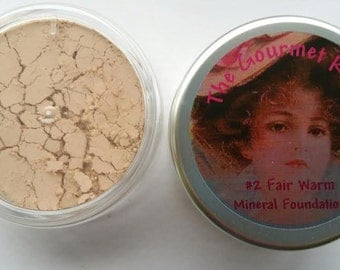 FAIR WARM #2 Sheer Bare Foundation Loose Powder Minerals 100 All Natural Mineral Makeup FuLL SiZe JaR XL