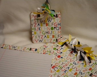 TEACHER GIFT SET  Alphabet Clipboards and Notepad