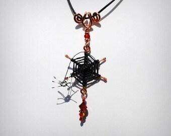 Spider Season Aranea Spider Web Necklace Rainbow Catcher spiderweb