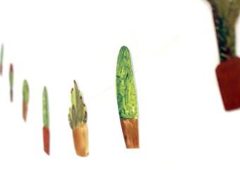 DIY KIT - Paper Garland Bunting Kit    CACTUS