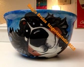 whimsical ceramic  hand painted bernese mountain love maggie brudos tangerine studio