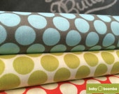 3 Yard Fabric Bundle ~ Amy Butler Full Moon Polka Dot in Slate, Lime, Cherry