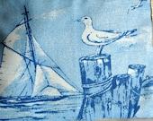 Nautical  Bag , Summer Clutch Purse , Nautical Makeup Bag , Sailing Bag , Purse Storage , Handbag Organizer , Tote Organizer , Travel Pouch