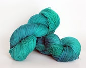 EMERALD, blue label hand dyed sock yarn