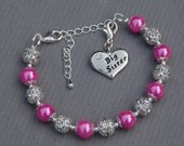 Big Sister Gift, Big Sister Charm Bracelet, Big Sister Jewelry, Gift for Sister, Sister Gift Ideas, Trending Items