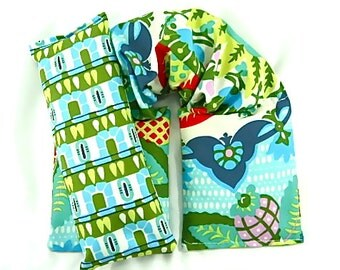 Handmade-Neck Wrap Eye Pillow Set  Hot/Cold Therapy,Microwave Heat Pack, Heating Pad, Gift
