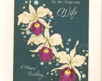 Vintage Birthday Card for Wife