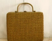 Vintage upcycled Wicker handbag case