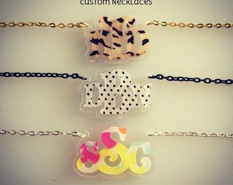 INITIALS PATTERNS laser cut necklace