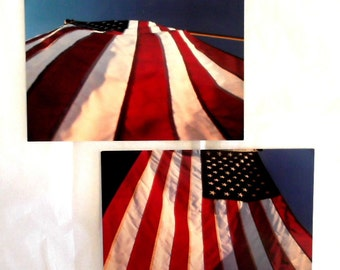 American Flag Postcards Set of 2