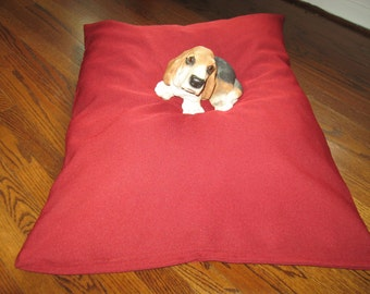 Christmas Red Color  --  Extra Strong and Durable dog bed COVER  Hand Made in USA by toughdogbed