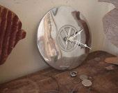 Vintage Volkswagen Hubcap Wall Clock - Repurposed Home Decor - Classic Car - VW -