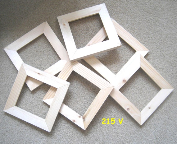 6 Unfinished 6x6 Wood Picture Frames My No 215 V