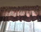 Blush Pink & Mocha Cherub Toile Nursery Baby Window Valance Nursery Bedding READY To SHIP Extra Wide