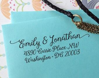 custom ADDRESS STAMP with proof from USA, Eco Friendly Self-Inking stamp, rsvp address stamp, custom stamp, custom calligraphy stamp 140