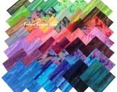 "Benartex Mountain Vista Bali Batiks Precut 5"" Charm Pack Fabric Quilting Cotton Squares"