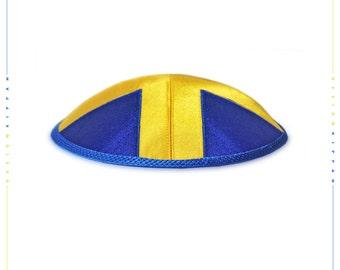 Jewish kippah yarmulke. Flag of Sweden.