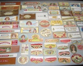 Collection of 100 Old  Small CIGAR LABELS 1930's plus,plus  - End - Oval - Tag - Strip - All Different
