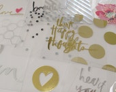 Heidi Swapp Clear Pocket Cards Planner Embellishments